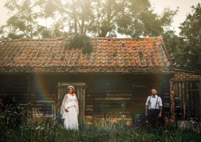 Bedfordshire: romantic, alternative wedding