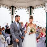 Brighton Bandstand wedding, relaxed wedding photography,