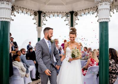 Brighton Bandstand: relaxed, informal, pretty wedding