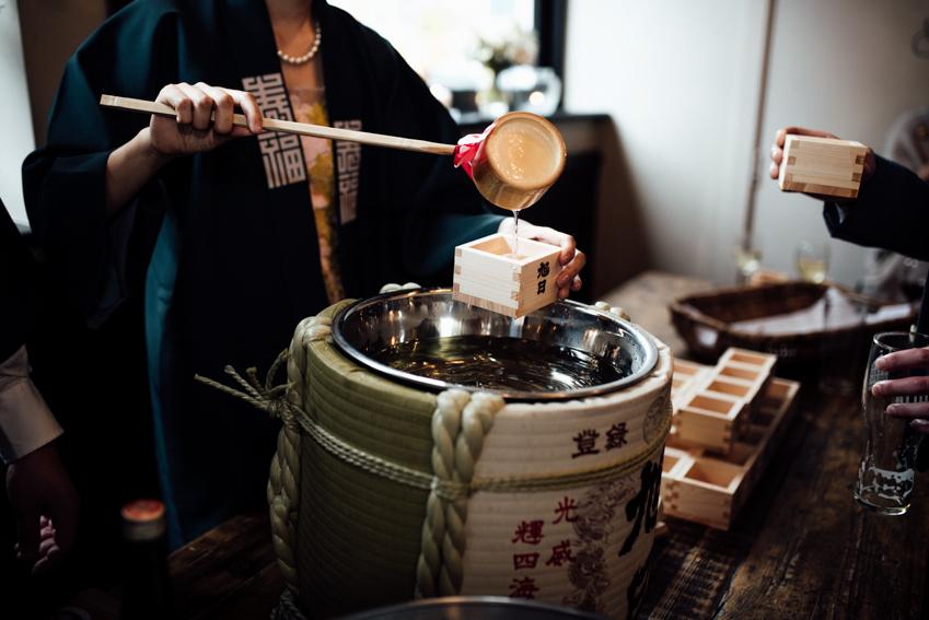 sake at wedding