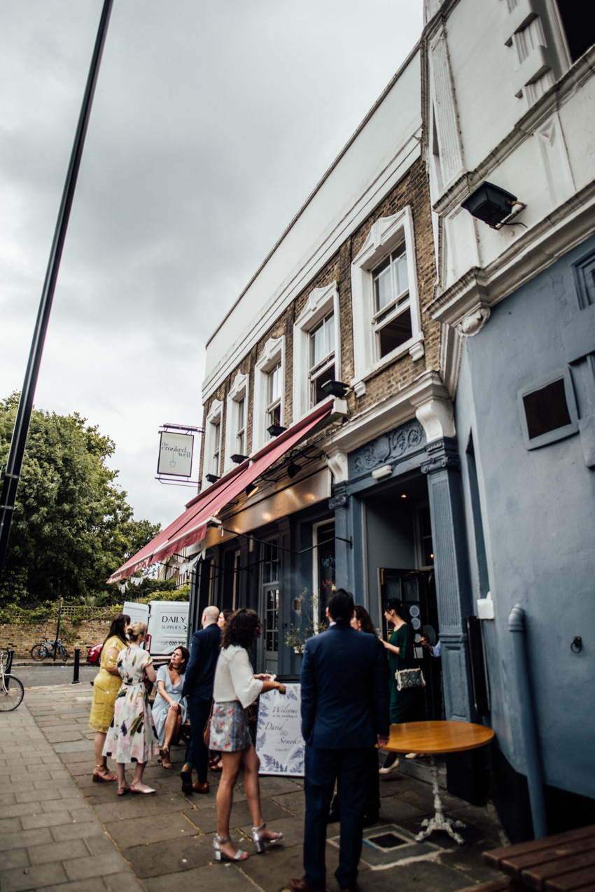 The Crooked Well, Camberwell wedding