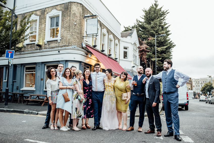 The Crooked Well, Camberwell wedding photographer