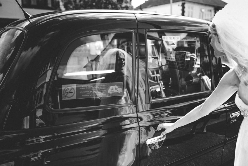 wedding black cab London