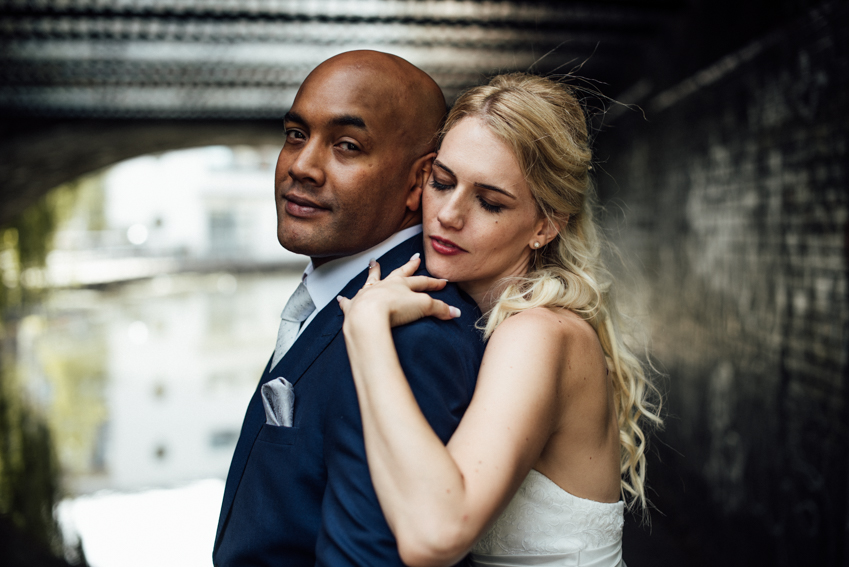modern London wedding photographer Camden canal